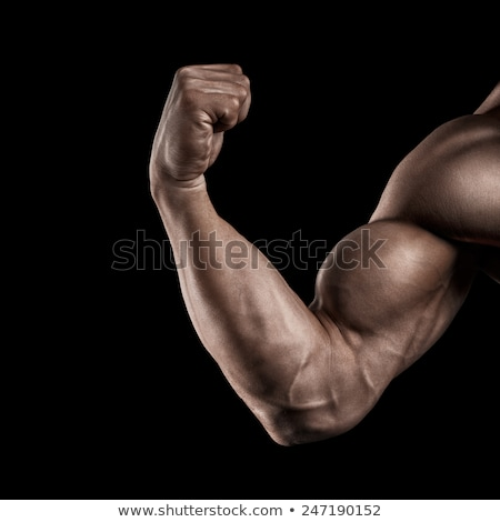 Strong and handsome young bodybuilder demonstrate his muscles an Stock photo © restyler