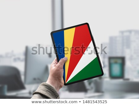 Tablet with Seychelles flag Stock photo © tang90246
