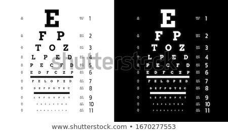 Eye chart stock photo © njnightsky