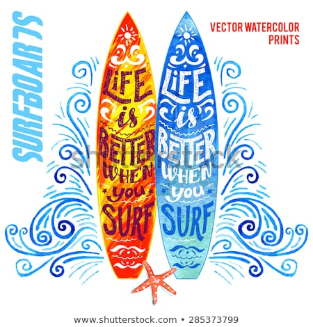 orange surfing hand draw pattern stock photo © netkov1