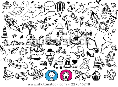 pirates set hand drawn stock photo © netkov1