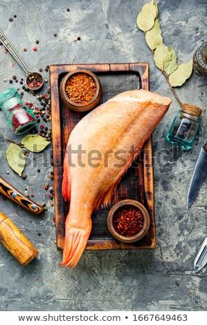 Faca ao ar livre tiro peixe saúde Foto stock © Mps197