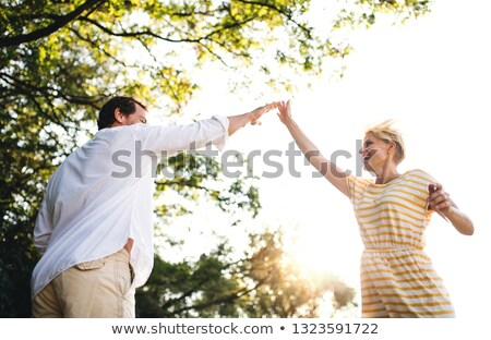 Homme Homme high five campagne deux Photo stock © rafalstachura