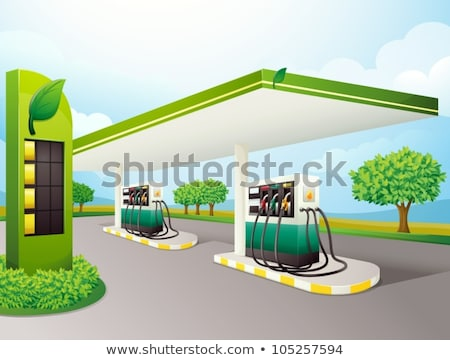 Petrol station colorful picture Stock photo © cherezoff