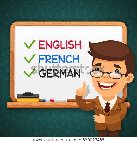 Foreign Languages Teacher in front of the Whiteboard Stock photo © Voysla