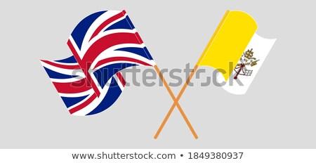 Egyesült Királyság szent lát Vatikán zászlók puzzle Stock fotó © Istanbul2009