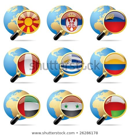 Émirats arabes unis Macédoine drapeaux puzzle isolé blanche Photo stock © Istanbul2009