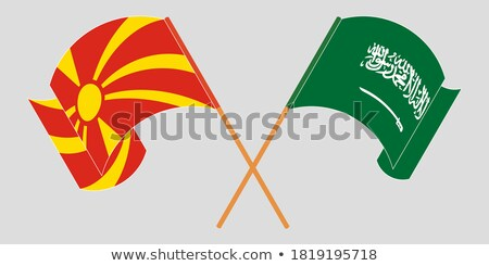 Saudi Arabia and Macedonia Flags Stock photo © Istanbul2009