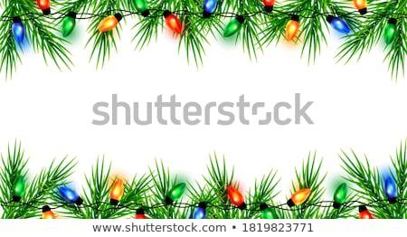 гирлянда · красный · бежевый · счастливым - Сток-фото © freesoulproduction