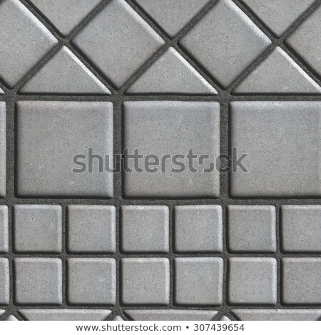 Grey Paving Slabs of the Figures Different Geometrical Shape. Stock photo © tashatuvango