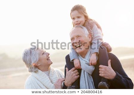 nagyszülők · unoka · család · gyerekek · nők · gyerekek - stock fotó © Paha_L