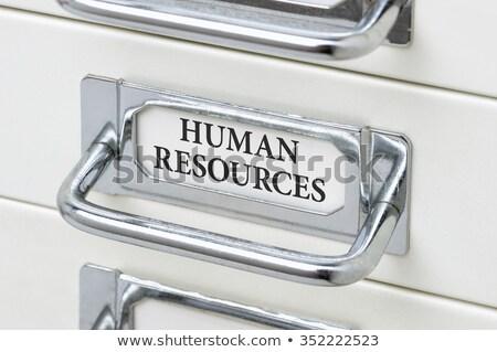 Gaveta etiqueta humanismo recursos negócio Foto stock © Zerbor