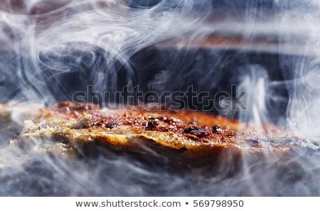 fumado · carne · isolado · branco · comida · fundo - foto stock © digifoodstock