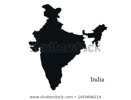 india country on map Stock photo © alex_grichenko