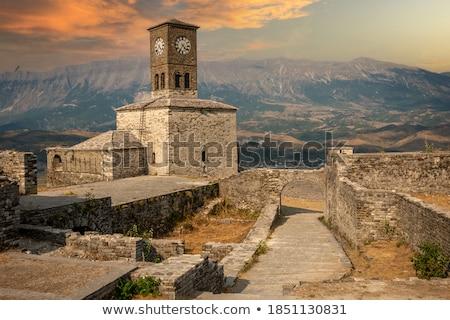Forteresse horloge ville vieux tour majorque Photo stock © Steffus