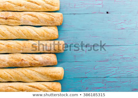 Border formed of a row of French baguettes Stock photo © ozgur