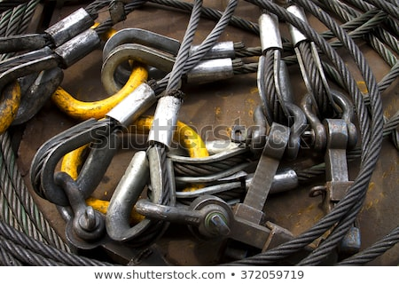 Bolt anchor shackle and wire rope sling Stock photo © smuay