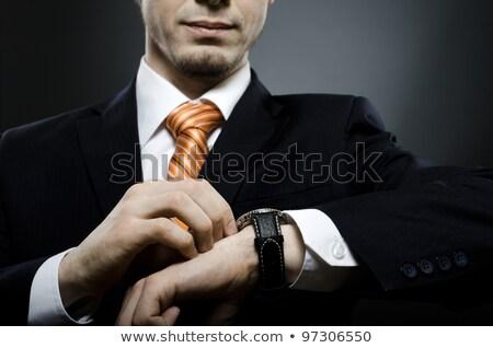 empresário · olhando · retrato · negócio · relógio - foto stock © zurijeta