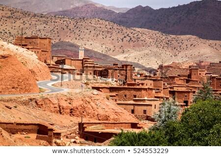 アトラス 山 小 村 表示 モロッコ ストックフォト © meinzahn
