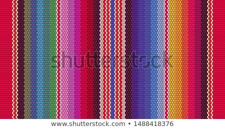 Wzór kolorowy wełny tle niebieski Zdjęcia stock © meinzahn