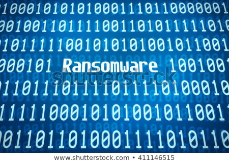binary code with the word ransomware in the center stock photo © zerbor