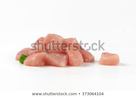 Турция · груди · разделочная · доска · мяса · свежие · белом · фоне - Сток-фото © Digifoodstock
