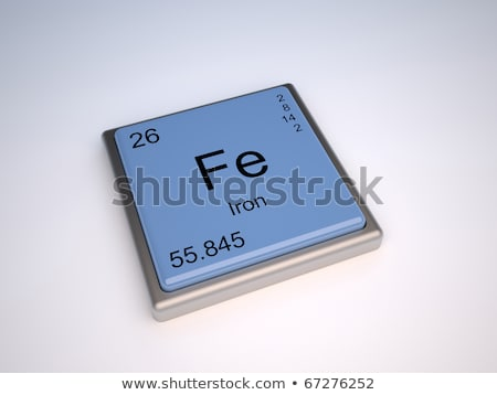 a button with the chemical element iron stock photo © bluering