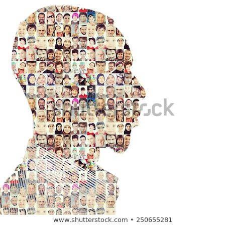 Man people collage faces double exposure Stock photo © zurijeta