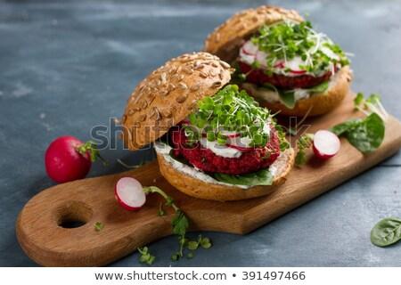 három · előkészített · bors · stock · hamburger · kép - stock fotó © digifoodstock