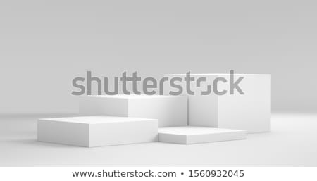 White pedestal Stock photo © m_pavlov