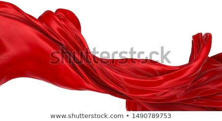 vermelho · sedoso · abstrato · escuro · tecido · ondas - foto stock © zven0