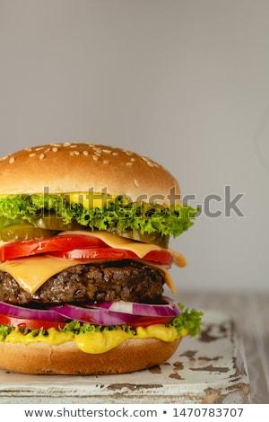 veganistisch · hamburger · vlees · plant · echt · rundvlees - stockfoto © racoolstudio