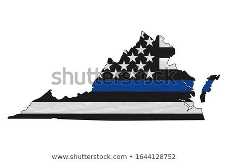 Виргиния Соединенные Штаты Америки США флаг карта Сток-фото © iqoncept