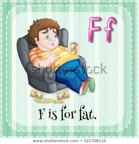Flashcard letter A is for armchair Stock photo © bluering