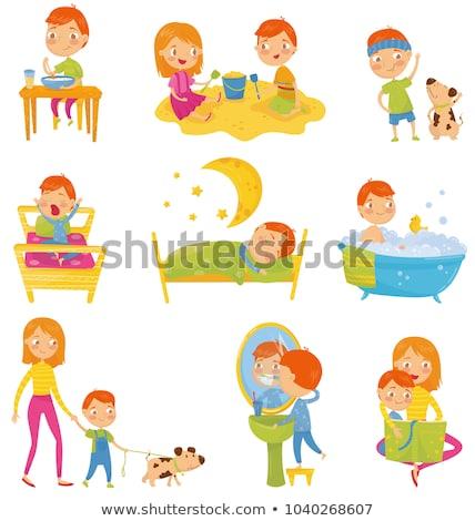 crianças · chuveiro · banheiro · ilustração · criança - foto stock © bluering