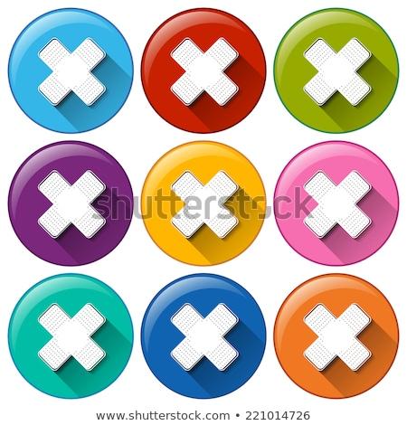 Кнопки медицинской иллюстрация фон ткань красный Сток-фото © bluering