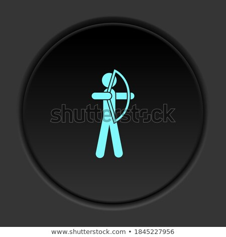 Buttons with archers Stock photo © bluering