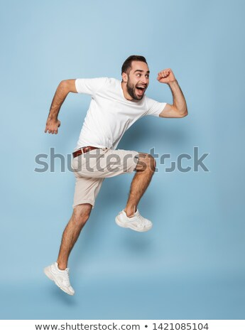 boy in Running pose on white background Stock photo © Istanbul2009