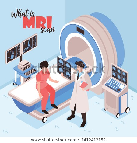 Doctor analyzing MRI scan vector illustration. Stock photo © RAStudio