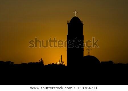 bella · bianco · moschea · isolato · abstract · luna - foto d'archivio © zurijeta