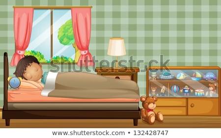 A boy sleeping soundly Stock photo © bluering
