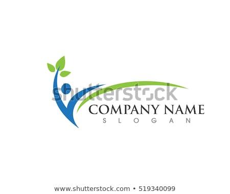 Gezondheid logo sjabloon leuk mensen gezond leven Stockfoto © Ggs