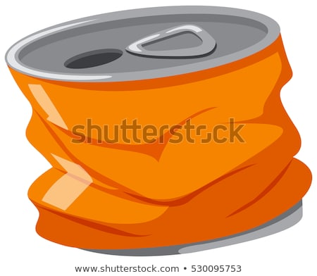 Utilisé aluminium peuvent orange couleur illustration Photo stock © bluering