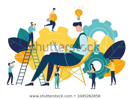 Creative people illustration stock photo © kali