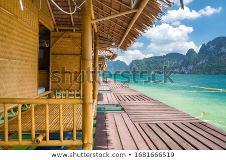 Bambú LAN lago Tailandia parque agua Foto stock © Mikko