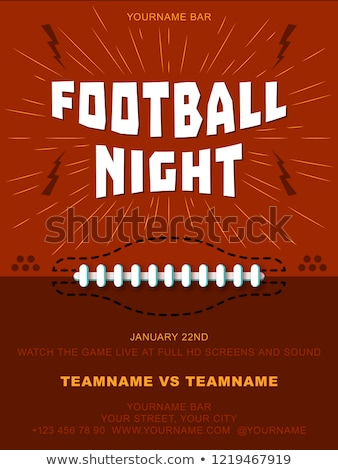 football pro championship league flyer template Stock photo © SArts