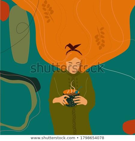 Knitted summer sale card, vector illustration Stock photo © carodi
