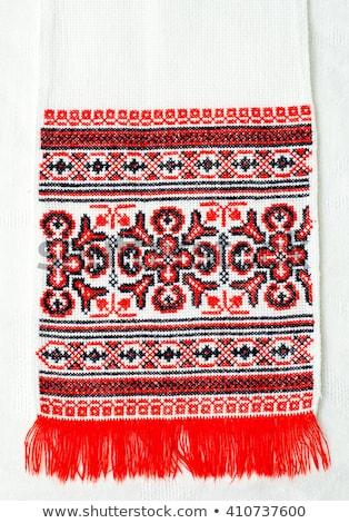 Ukrainian embroidery ornament Stock photo © day908
