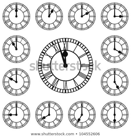 Reloj marcar fecha tope negro tiempo negocios Foto stock © Oakozhan