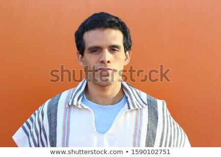 Feliz homem folclore roupa Foto stock © phakimata